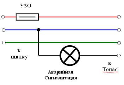 топас электрическая схема